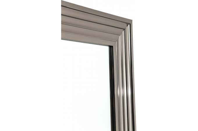 Miroir frame argent 105x75cm miroir rectangulaire pas cher for Miroir argente pas cher