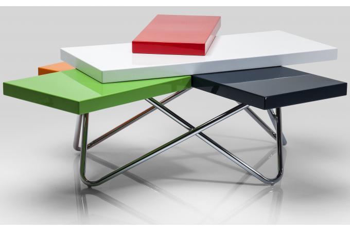 table basse micado colore 105x94cm table basse pas cher. Black Bedroom Furniture Sets. Home Design Ideas
