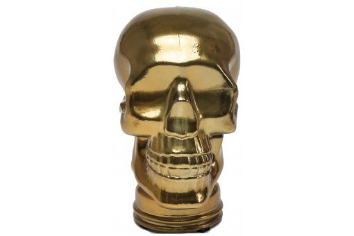 Tête décorative Skull Shimmery cuivre