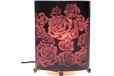 Lampe à Poser Lampe de table Kare Design rose en polyvinyle Rose Oval, deco design