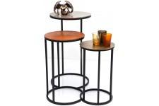 Table d'Appoint Lot de 3 tables Kare Design Loft Round Vintage, deco design