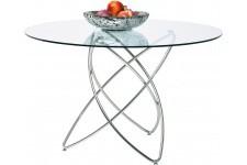Table d'Appoint Table Kare Design transparente verre Genesis, deco design
