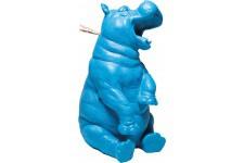 Tirelire Kare Design Hippo Rigolo Bleu, deco design