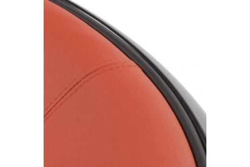 Pouf design noir avec assise orange