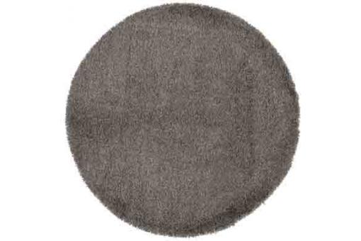 Tapis rond 160 gris Shaggy