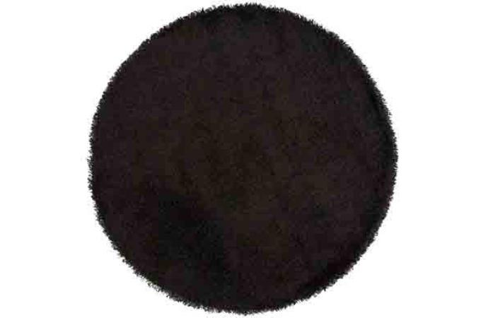 tapis rond 160 noir shaggy tapis design pas cher. Black Bedroom Furniture Sets. Home Design Ideas