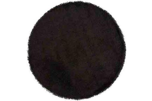 tapis rond 200 noir shaggy tapis design pas cher. Black Bedroom Furniture Sets. Home Design Ideas