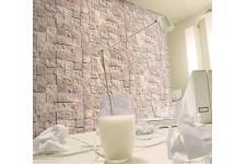 Papier Peints Brique & Pierre Papier peint pierre damier pastel, deco design