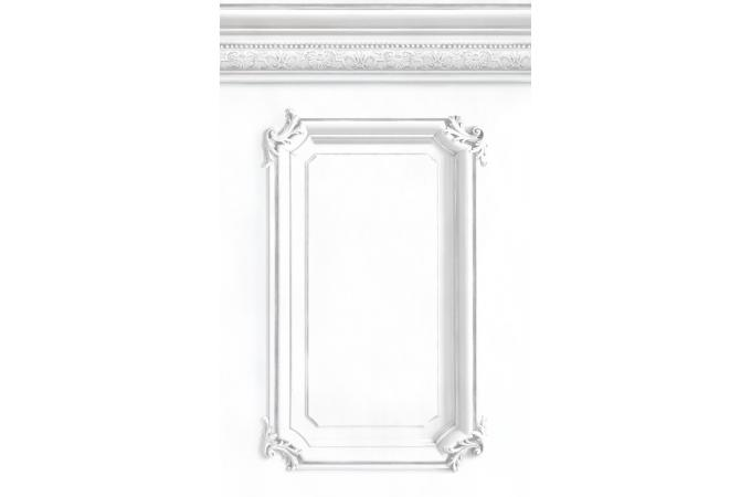 papier peint soubassement haussmannien blanc papier. Black Bedroom Furniture Sets. Home Design Ideas