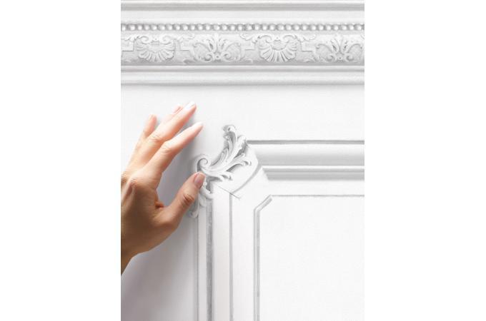 Papier Peint Soubassement Haussmannien Blanc Papier Peint Trompe L