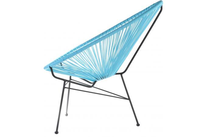fauteuil la chaise longue turquoise acapulco fauteuil design pas cher. Black Bedroom Furniture Sets. Home Design Ideas