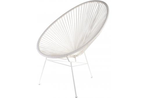 Fauteuil Blanc Design ACAPULCO - Fauteuil et Chaise de Jardin Pas Cher