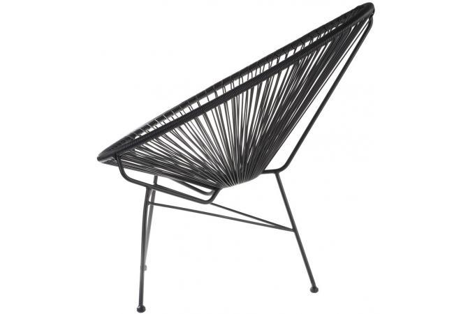 Fauteuil la chaise longue noir acapulco fauteuil design pas cher - Chaise acapulco pas cher ...
