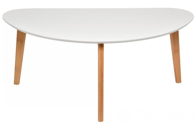 Grande table basse oaky blanche table basse pas cher - Table basse ovale pas cher ...
