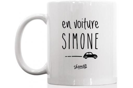 mug la chaise longue blanc en voiture simone mug verre. Black Bedroom Furniture Sets. Home Design Ideas