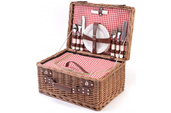 Panier picnic 4 personnes bistrot accessoires cuisine d 39 ext rieur pas cher - Panier picnic pas cher ...