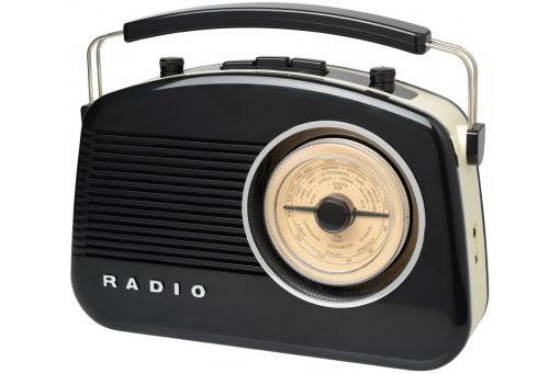 radio 60 39 s bluetooth noir retro gadget et jeux pas cher. Black Bedroom Furniture Sets. Home Design Ideas