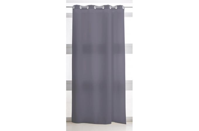 Rideau illets polyester 140x260 today couleur canon de fusil rideaux pas cher - Couleur canon de fusil ...