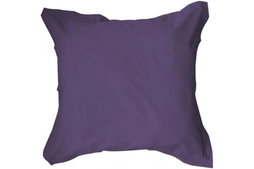 Taie d'oreiller 75x75 cm unie 100% coton 57 fils TODAY Couleur Deep Purple