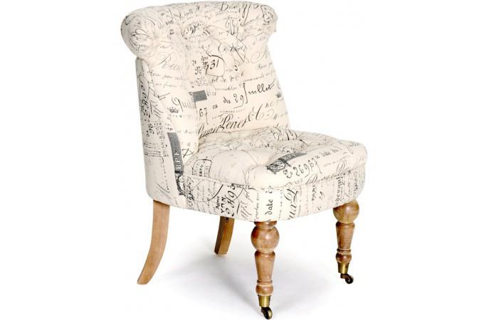 fauteuil old england moderne tissu noir imprim blanc fauteuil design pas cher. Black Bedroom Furniture Sets. Home Design Ideas