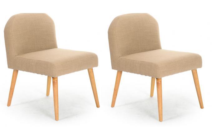 lot de 2 fauteuils contemporains beige egerial fauteuil design pas cher. Black Bedroom Furniture Sets. Home Design Ideas