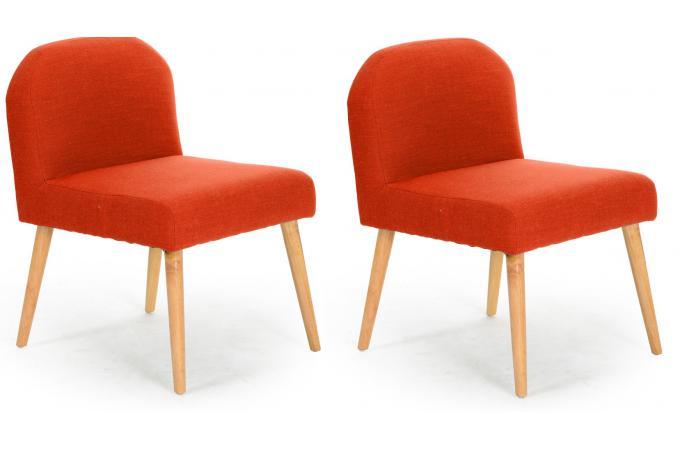 lot de 2 fauteuils contemporains orange egerial fauteuil design pas cher. Black Bedroom Furniture Sets. Home Design Ideas