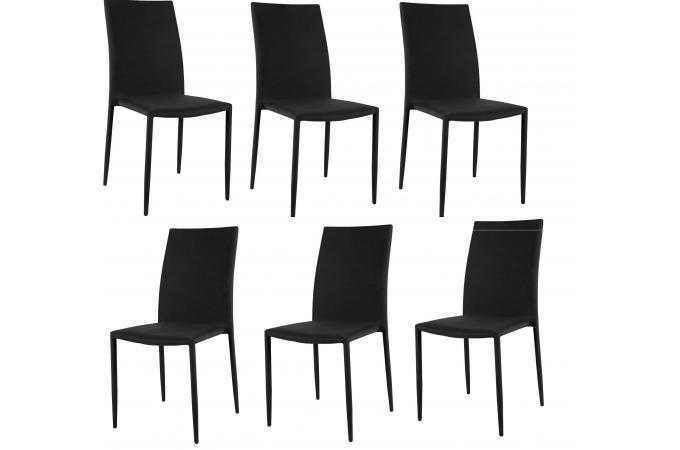 Lot de 6 chaises empilables noires design chaise pliante pas cher - Chaises empilables pas cher ...