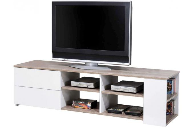 meuble tv ch ne griff blanc meuble tv pas cher. Black Bedroom Furniture Sets. Home Design Ideas