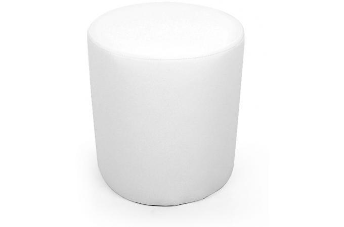 pouf rond blanc pouf design pouf g ant pas cher. Black Bedroom Furniture Sets. Home Design Ideas