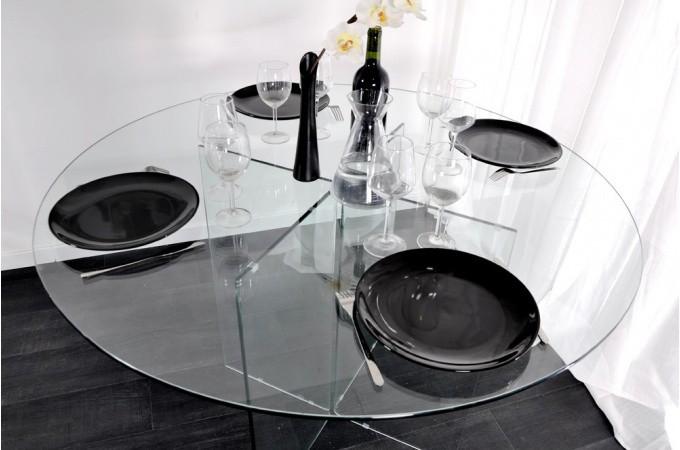 table ronde en verre pas cher table ronde verre sur enperdresonlapin. Black Bedroom Furniture Sets. Home Design Ideas