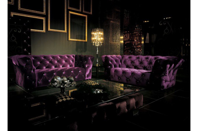 Canap chesterfield pas cher canap chesterfield cuir lin velours p - Canape chesterfield violet ...