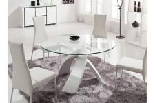Table d'Appoint Table en verre ronde Versailles blanc, deco design