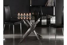 Table d'Appoint Table en verre ronde Versailles effet chromé, deco design