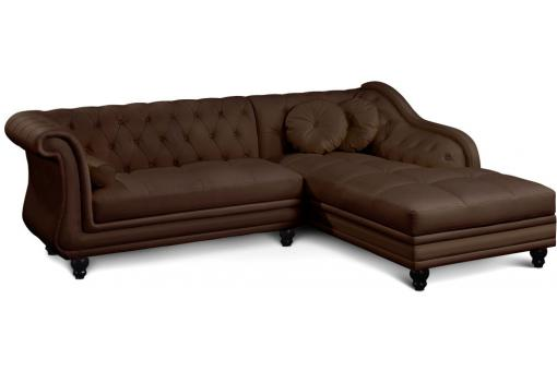 canap d 39 angle marron style chesterfield victoria canap chesterfield pas cher. Black Bedroom Furniture Sets. Home Design Ideas