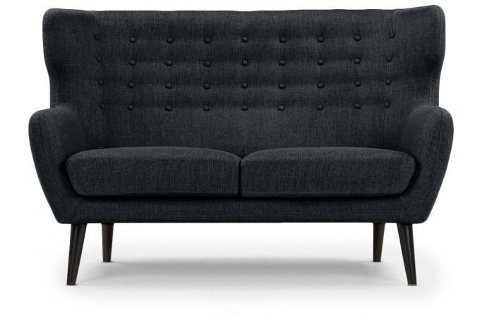 canap scandinave 2 places depalma tissu noir canap 2 places pas cher. Black Bedroom Furniture Sets. Home Design Ideas
