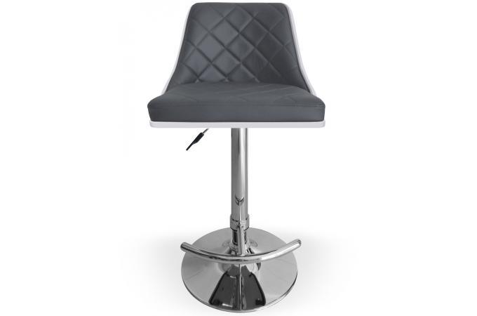 tabouret de bar cadix bois blanc gris tabouret de bar pas cher. Black Bedroom Furniture Sets. Home Design Ideas