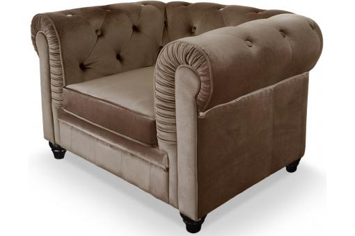 Fauteuil Chesterfield Taupe