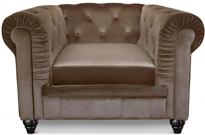 fauteuil chesterfield velours taupe fauteuil chesterfield pas cher. Black Bedroom Furniture Sets. Home Design Ideas