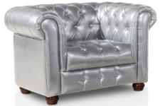 Fauteuil Masterfield Argent - Fauteuil chesterfield design