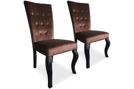 lot de 2 chaises capitonn e velours choco rockstar chaises design pas cher. Black Bedroom Furniture Sets. Home Design Ideas
