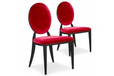 Lot de 2 chaises rouges en métal Nicosie, deco design