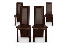 Chaise Design Lot de 4 chaises marron en métal Tokyo, deco design