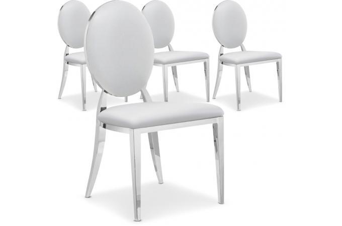 lot de 4 chaises sofia baroque blanc chaise design pas cher. Black Bedroom Furniture Sets. Home Design Ideas
