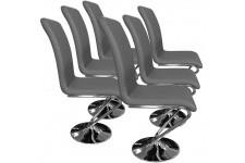 Chaise Design Lot de 6 chaises Angélique Gris, deco design