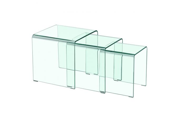 Table basse gigogne transparente table basse pas cher - Table gigogne transparente ...