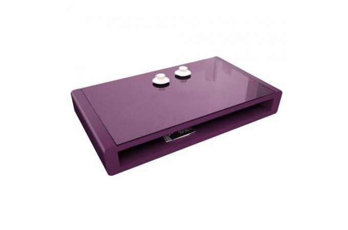 Table basse violette plaqu bois fabiola table basse pas cher - Table basse violette ...