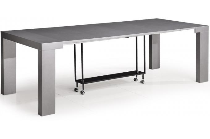 Declikdeco  Table Console Castille XL Gris Satin