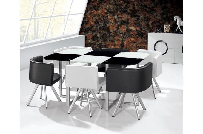 Table Mosaic Xl Bicolore Noir Et Blanc Plus D Infos