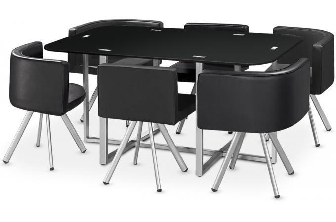 Table mosaic xl noir table manger pas cher - Table ronde noir pas cher ...