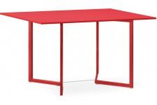 Table d'Appoint Table pliante rouge en bois Adonia, deco design